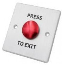 SAAS Metal Exit Button - Red Button